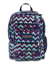 The JanSport Big Student Backpack is a spacious bag perfect for heading back to… Chevron Backpacks, Cute Backpacks, Girl Backpacks, Leather Backpacks, Leather Bags, Sac Jansport, Mochila Jansport, Mk Handbags, Handbags Michael Kors