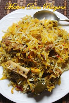 Easy Mutton Dum Biryani Recipe - Lamb Biryani Recipe - I Cook Different Lamb Biryani Recipes, Lamb Recipes, Veg Recipes, Spicy Recipes, Curry Recipes, Indian Food Recipes, Asian Recipes, Cooking Recipes, Gourmet