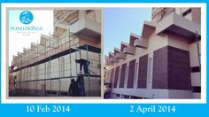 #External Wall of our #Odyssea #Bar...At this #Stage most of the #work is concentrated on the #Mezzanine , #Ground and #Basement #Floor. #Newmanagement #Reopening 26 #April 2014 #Limassol #Cyprus #Hotel Poseidonia Beach Hotel