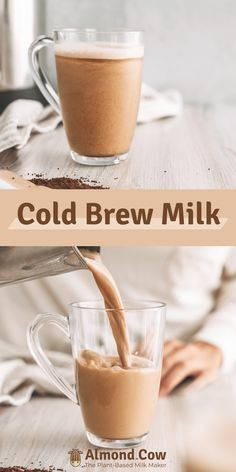 How to make Cold Brew Milk with your Almond Cow! #Coffee #ColdBrew