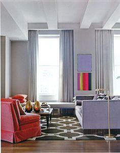Living Rooms to Luxuriate In: ...all velvet upholstery.
