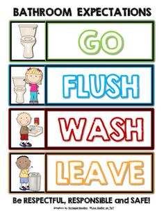 Bathroom Reminder Posters Fabulous First Grade Classroom