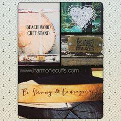 Be strong & courageous golden cuff/bracelet and Beach wood Cuff/jewelry stand both inspired from Joshua 1:9.  www.harmoniecuffs... #ilovejesus #joshua1 #beachwood #harmoniecuffs #gold #bling #inspirational #inspirationalgifts #toolfortheheart #BeRad #bestrong #becourageous #leatherbracelets #jewelry #instajewelry #alohaspirit #aloha #beachvibes #mermaid #handmadeisbetter