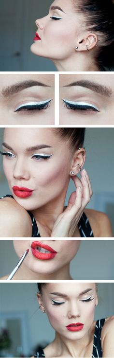 DOUBLE LINER -- White and black liner to create this striking look!
