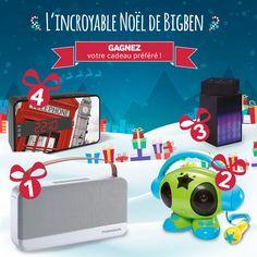 L'incroyable Noël de Bigben c'est 4 cadeaux à remporter pendant 4 semaines ! Rendez-vous sur notre page Facebook Bigben Interactive du 30 novembre au 24 décembre 2016