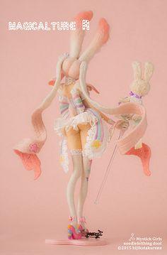 土方クロネ 羊毛フェルト人形 『Mystick Girls』 | GALLERY