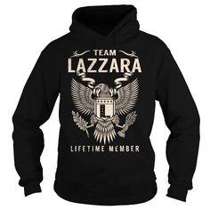 I Love Team LAZZARA Lifetime Member - Last Name, Surname T-Shirt Shirts & Tees