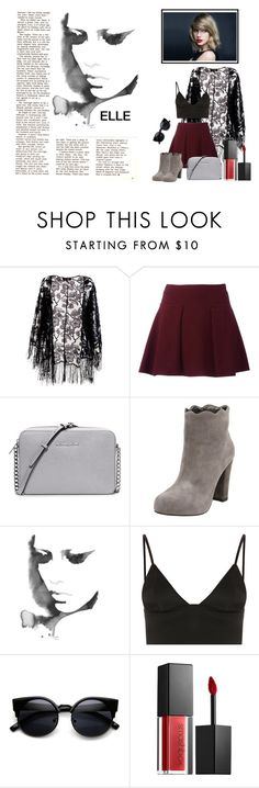 """""""Untitled #111"""" by dars78 ❤ liked on Polyvore featuring Pussycat, MICHAEL Michael Kors, Charlotte Ronson, T By Alexander Wang and Smashbox"""