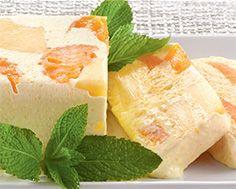 Mascarpone Semifreddo with Candied Tangerine & Pineapple