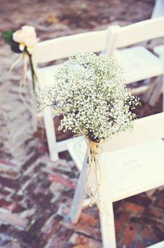 I love baby's breath, aisle decor. Altar, Dream Wedding, Wedding Day, Wedding 2017, Wedding Ceremony, New Orleans Wedding, Ceremony Decorations, Floral Decorations, Unique Weddings