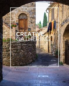Here depicted a back lane of San Gimignano a medieval town we will explore during our Spring Creative Gathering. Join @missfoodwise @sarkababicka and me for a creative gathering which will celebrate the seasonal food and the pleasure of getting together in a quiet location in the Tuscan countryside. There will be time to chat experiment cook and eat together head to the market to discover local seasonal ingredients knead a good loaf of sourdough bread and light up the wood burning oven to…