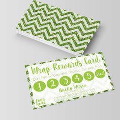 Wraps Rewards card It works Loyalty customer by Opheliafpg on Etsy