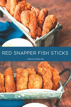 Using red snapper for my Crispy Fried Red Snapper Fish Sticks really enhanced the flavor of this recipe; versus using the the typical Pollock fish that is used in traditional store bought frozen fish sticks. Source by dudethatcookz Fish Dishes, Seafood Dishes, Fish And Seafood, Seafood Recipes, Appetizer Recipes, Cooking Recipes, Appetizers, Diet Recipes, Main Dishes