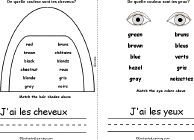 Book, A Printable Book: Hair, Eyes. Print out the Je m'appelle. French Adjectives, Enchanted Learning, Early Readers, October, Printables, Books, Hair, Eyes, Libros