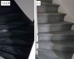 Betonlook verf / Effect Paint - Warm Beige - 1 liter - Open Trap, Beton Diy, Industrial Interiors, Stairways, Decoration, Outdoor Living, Sweet Home, New Homes, Home And Garden