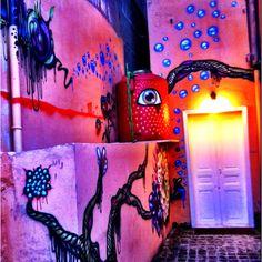 Artsy fartsy wall graffiti--Gemmayze, Beirut