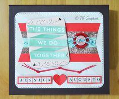 Álbum de fotos em scrapbook romântico (visão geral da decoração) #tkscrapbook