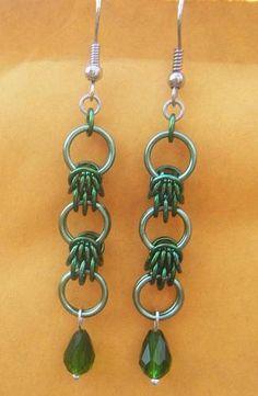 Scherzo Weave - Chainmail Earrings