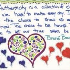 Authenticity ... A bit cut off but you can make out the words - love!