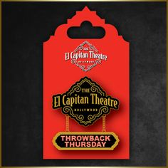 Throwback Thursday Reward Pin only available during Throwback Thursday screenings for $8.00!  Wear your pin during #ELCAPTHROWBACK Thursday screenings and receive:  Free El Capitan popcorn refill, 15% discount on Ghirardelli Chocolate, $5 Ghirardelli Single Scoop Sundae PLUS exclusive rewards in the future!   Starting Aug. 21, 2014 for the 10th Throwback Thursday #HERCULES! Limit four (4) per person, must show current Throwback Thursday ticket at purchase.