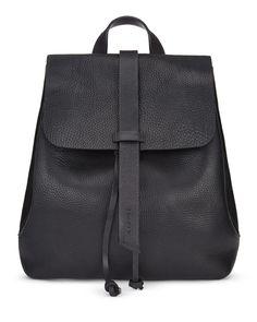 Jigsaw Blake Leather Backpack in Black, £179