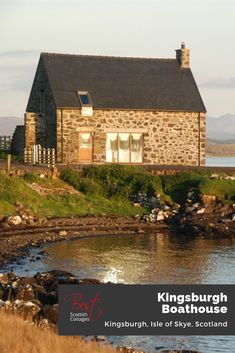 A stonebuilt lovers boathouse renovation for two on the edge of the spellbinding Loch Snizort - rugged outside, and stylish inside with flagstone floors, mesmerising views and total privacy overlooking the Atlantic Ocean on the magical Isle of Skye.