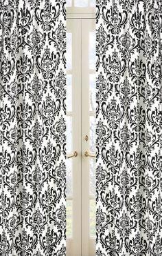 Amazon.com: Damask Print Isabella Window Treatment Panels - Set of 2