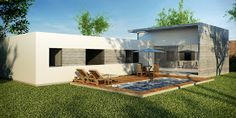 La Forma Moderna en Latinoamérica: CASAS DE CAMPO Trujillo Peru, Utila, Dream House Plans, Flat Roof, Shed, New Homes, Floor Plans, Cottage, Exterior