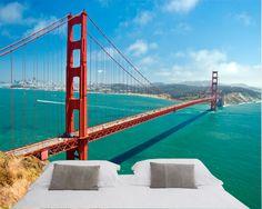 Fotomurales San Francisco bridge. Ideas decoración academia de inglés #decoración #academia #inglés #ideas #vinilo #TeleAdhesivo