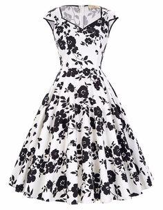 Belle Poque Womens Vintage Elegant 3//4 Sleeve Velvet Belt Swing Party Dress with Pockets 2017