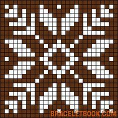 Snowflake perler bead pattern