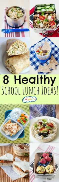 8 Healthy School Lunch Ideas - MOMables® - Mealtime Solutions for Busy Parents! , 8 Healthy School Lunch Ideas - MOMables® - Mealtime Solutions for Busy Parents! Eat Lunch, Lunch To Go, Lunch Snacks, Lunch Recipes, Real Food Recipes, Healthy Recipes, Healthy Foods, Kids Lunch For School, Healthy School Lunches