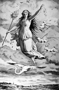 Eastre, Eostre or Ostara, Germanic goddess of spring