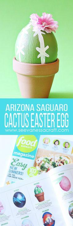 Arizona Cactus Easter Egg Craft Tutorial As Seen in Food Network Magazine