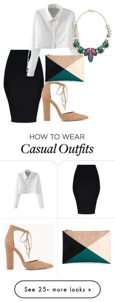 """casual"" by walkerjasmine93 on Polyvore featuring WithChic, Sole Society and Tataborello"