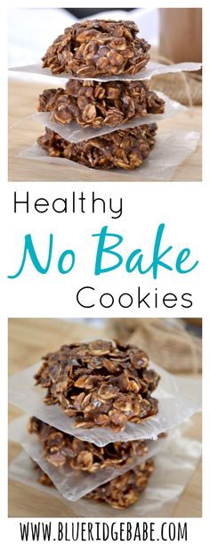 Healthy Chocolate Peanutbutter No Bake Cookies - these are SO good!