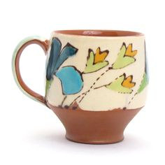 Ursula Hargens, earthenware mug at the Clay studio as part of Cups and Coffee show September 2011