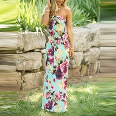 Available Sizes Bust(cm) Waist(cm) Length(cm) Type :Slim Material :Cotton Blend Color :Blue Decoration :Bandeau Pattern :Floral Collar :Collarless Length Style :Floor Length Sleeve Length :Sleeveless Sexy Maxi Dress, Backless Maxi Dresses, Floral Maxi Dress, Boho Dress, Sexy Dresses, Summer Dresses, Strapless Maxi, Vacation Dresses, Dress Shirts For Women