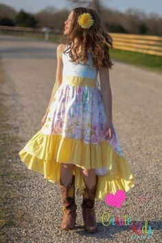 Create Kids Couture - Hope's Tween Hi-Low Dress PDF Sewing Pattern.