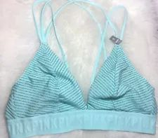 Victoria/'s Secret Sport Tank Top Swim CoverUp Sleep Lounge Sheer Mesh Pink Small
