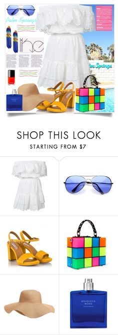 """Palm Springs  Travel Outfits"" by spica-caracterielle ❤ liked on Polyvore featuring LoveShackFancy, Fratelli Karida, Dolce&Gabbana, Old Navy, Boudicca, Lele Sadoughi, california, palmsprings and outfitsfortravel"