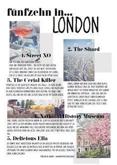 Fünfzehn in…London