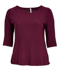 Look at this #zulilyfind! Plum Scoop Neck Top - Plus #zulilyfinds