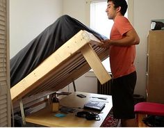 Build your own transformer bed that turns into a desk : TreeHugger - I wish I could make this