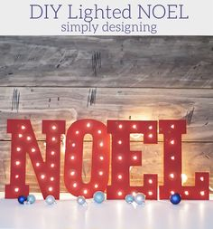 DIY Wooden Lighted NOEL tutorial