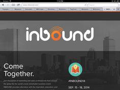 Inbound conference April 2014. Business Events, Inbound Marketing, Conference