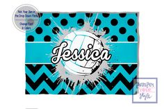 Volleyball Blanket Blue and Black Spirit by PAMPERYOURSTYLE
