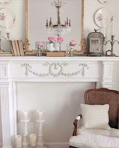 Today we are in America at the home of Amanda, fond of shabby chic style ..