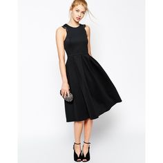 ASOS Lace Trim Prom Scuba Midi Dress and other apparel, accessories and trends. Browse and shop related looks.