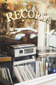 the record shop.